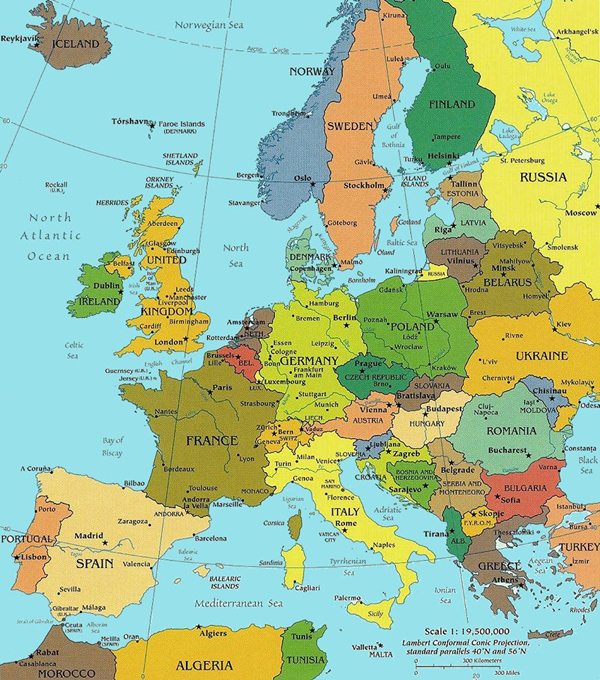Eurotrash and Treasure – European Travel Map